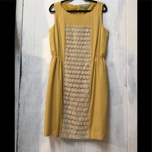 Gold beautiful retro style dress!!! Size 14